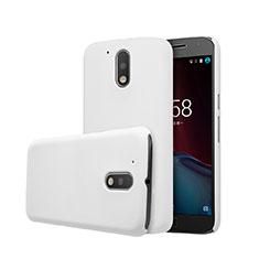 Funda Dura Plastico Rigida Mate para Motorola Moto G4 Blanco