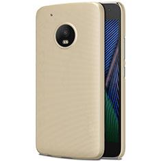 Funda Dura Plastico Rigida Mate para Motorola Moto G5 Plus Oro