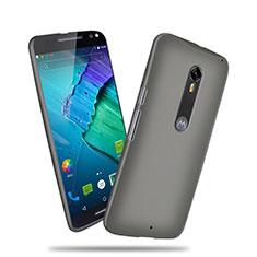 Funda Dura Plastico Rigida Mate para Motorola Moto X Style Gris