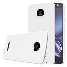 Funda Dura Plastico Rigida Mate para Motorola Moto Z Blanco