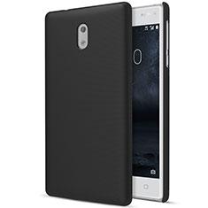 Funda Dura Plastico Rigida Mate para Nokia 3 Negro