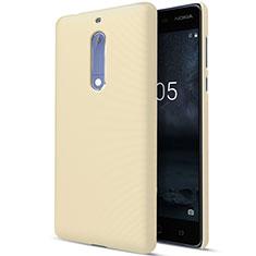 Funda Dura Plastico Rigida Mate para Nokia 5 Oro