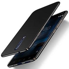 Funda Dura Plastico Rigida Mate para Nokia 8 Negro