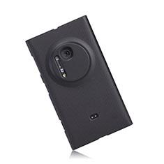 Funda Dura Plastico Rigida Mate para Nokia Lumia 1020 Negro