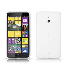 Funda Dura Plastico Rigida Mate para Nokia Lumia 1320 Blanco