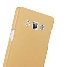 Funda Dura Plastico Rigida Mate para Samsung Galaxy A3 Duos SM-A300F Oro