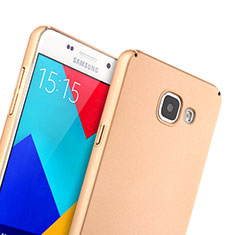 Funda Dura Plastico Rigida Mate para Samsung Galaxy A5 (2016) SM-A510F Oro