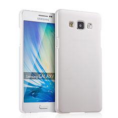 Funda Dura Plastico Rigida Mate para Samsung Galaxy A5 Duos SM-500F Blanco