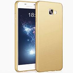 Funda Dura Plastico Rigida Mate para Samsung Galaxy A7 (2017) A720F Oro