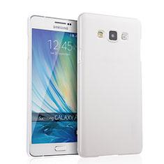 Funda Dura Plastico Rigida Mate para Samsung Galaxy A7 SM-A700 Blanco