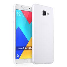 Funda Dura Plastico Rigida Mate para Samsung Galaxy A9 Pro (2016) SM-A9100 Blanco