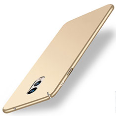 Funda Dura Plastico Rigida Mate para Samsung Galaxy C7 (2017) Oro