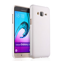 Funda Dura Plastico Rigida Mate para Samsung Galaxy J3 (2016) J320F J3109 Blanco