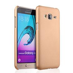 Funda Dura Plastico Rigida Mate para Samsung Galaxy J3 (2016) J320F J3109 Oro