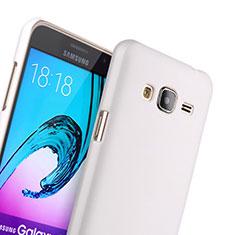 Funda Dura Plastico Rigida Mate para Samsung Galaxy J3 Blanco