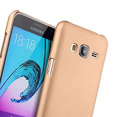 Funda Dura Plastico Rigida Mate para Samsung Galaxy J3 Oro
