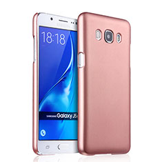 Funda Dura Plastico Rigida Mate para Samsung Galaxy J5 Duos (2016) Oro Rosa