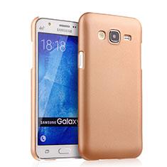 Funda Dura Plastico Rigida Mate para Samsung Galaxy J5 SM-J500F Oro