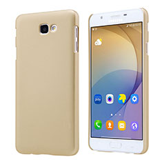 Funda Dura Plastico Rigida Mate para Samsung Galaxy J7 Prime Oro