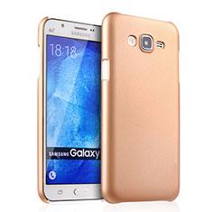 Funda Dura Plastico Rigida Mate para Samsung Galaxy J7 SM-J700F J700H Oro