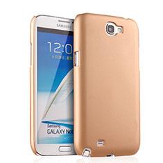 Funda Dura Plastico Rigida Mate para Samsung Galaxy Note 2 N7100 N7105 Oro