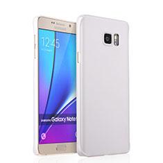 Funda Dura Plastico Rigida Mate para Samsung Galaxy Note 5 N9200 N920 N920F Blanco