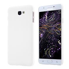 Funda Dura Plastico Rigida Mate para Samsung Galaxy On5 (2016) G570 G570F Blanco