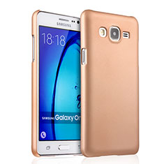 Funda Dura Plastico Rigida Mate para Samsung Galaxy On5 Pro Oro