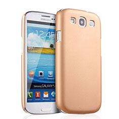 Funda Dura Plastico Rigida Mate para Samsung Galaxy S3 i9300 Oro