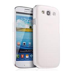Funda Dura Plastico Rigida Mate para Samsung Galaxy S3 III LTE 4G Blanco
