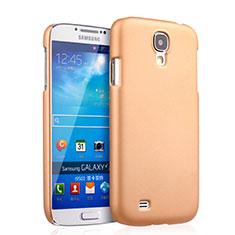 Funda Dura Plastico Rigida Mate para Samsung Galaxy S4 IV Advance i9500 Oro
