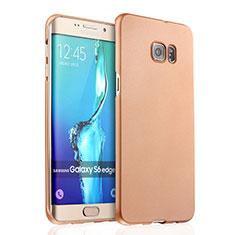 Funda Dura Plastico Rigida Mate para Samsung Galaxy S6 Edge+ Plus SM-G928F Oro