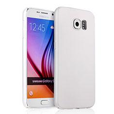 Funda Dura Plastico Rigida Mate para Samsung Galaxy S6 SM-G920 Blanco