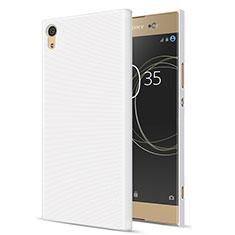 Funda Dura Plastico Rigida Mate para Sony Xperia XA1 Ultra Blanco
