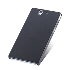 Funda Dura Plastico Rigida Mate para Sony Xperia Z L36h Negro