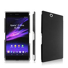 Funda Dura Plastico Rigida Mate para Sony Xperia Z Ultra XL39h Negro