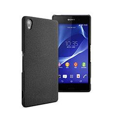 Funda Dura Plastico Rigida Mate para Sony Xperia Z2 Negro