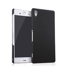 Funda Dura Plastico Rigida Mate para Sony Xperia Z3 Negro