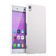 Funda Dura Plastico Rigida Mate para Sony Xperia Z3+ Plus Blanco