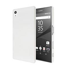 Funda Dura Plastico Rigida Mate para Sony Xperia Z5 Blanco