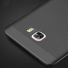 Funda Dura Plastico Rigida Perforada M01 para Samsung Galaxy C9 Pro C9000 Negro