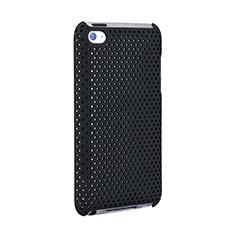 Funda Dura Plastico Rigida Perforada para Apple iPod Touch 4 Negro