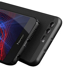 Funda Dura Plastico Rigida Perforada para Huawei Honor 8 Negro