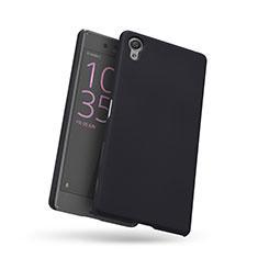 Funda Dura Plastico Rigida Perforada para Sony Xperia X Negro