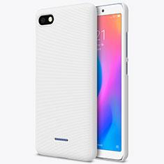 Funda Dura Plastico Rigida Perforada para Xiaomi Redmi 6A Blanco