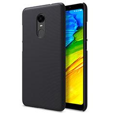 Funda Dura Plastico Rigida Perforada para Xiaomi Redmi Note 5 Indian Version Negro