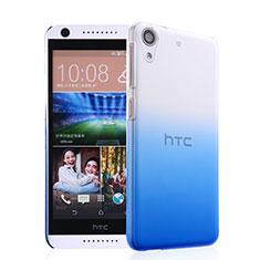 Funda Dura Plastico Rigida Transparente Gradient para HTC Desire 626 Azul
