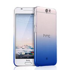 Funda Dura Plastico Rigida Transparente Gradient para HTC One A9 Negro