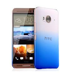 Funda Dura Plastico Rigida Transparente Gradient para HTC One Me Azul