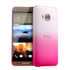 Funda Dura Plastico Rigida Transparente Gradient para HTC One Me Rosa